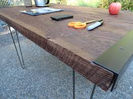 60 x 24 desk industrial desk with hairpin legs 60 x 24 mt hood wood works