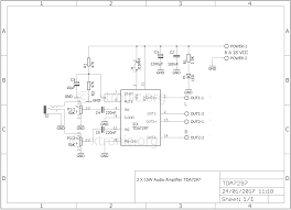 audio amplifier circuit diagram using ic wiring diagram components