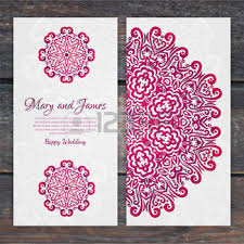indian wedding card template indian wedding card design lacy vector wedding card template