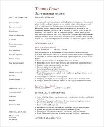 Sample It Manager Resume by Store Manager Resume 9 Free Pdf Word Documents Download Free
