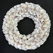 wood wreath white wood wreath medium garden home