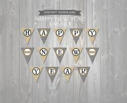 New Years Eve Decorations Printables by New Years Eve Banner Instant Download Printable Banner Black And