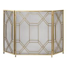 gold fireplace screen binhminh decoration