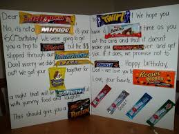 big birthday cards birthday card made out of candy bars happy birthday card made out