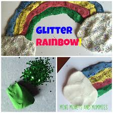 mini monets and mommies glitter rainbows kids u0027 clay art activity