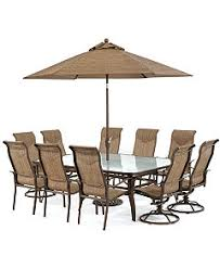 6 Chair Patio Dining Set Oasis Outdoor Dining Collection Created For Macy U0027s Furniture