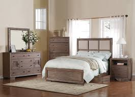 Good Quality Bedroom Set Acme Equinox Panel Bedroom Set In Distressed Ash