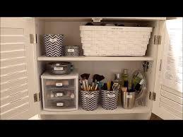 diy makeup organizing ideas for simple but stylish dressing room