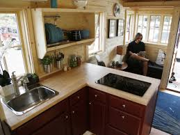 Tiny House Kitchens Exterior Design Small Kitchen Tumbleweed Tiny House With Oak