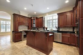 Medium Dark Cabinets With Dark Countertops Middle Island With - Medium brown kitchen cabinets