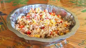 poivron cuisine salade de riz au thon maïs et poivron recette par cuisine