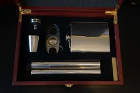 cigar gift set flask cigar set and hockey snoo pint glass secret santa 2013