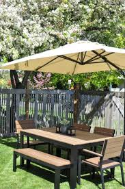 Glass Patio Table With Umbrella Hole Patio Furniture Patio Table Set With Umbrellac2a0 Umbrella For