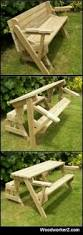 Folding Picnic Table Instructions by Plans On Http Www Woodworkerz Com Folding Bench And Picnic Table