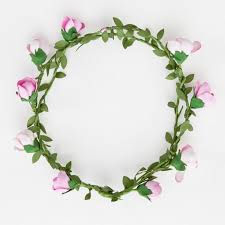 hair wreath pink roses hair wreath thedog