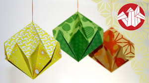 origami tutorial paper diamond senbazuru youtube