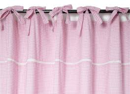 Pink Gingham Curtains Gingham Tie Top Ready Made Curtains Curtains