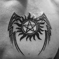 40 anti possession tattoo designs for men supernatural ideas