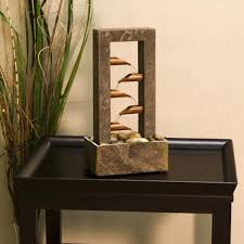 waterfalls decoration home in door water falls with unique bamboo water table fountains decor