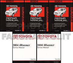 toyota 4runner repair 2004 toyota 4runner repair manual set shop service books 4