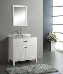 30 Inch Bathroom Vanity With Top 30 Inch Belvedere Traditional Freestanding White Bathroom Vanity W