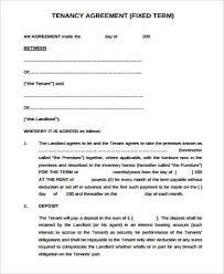 8 sample tenancy agreement free sample example format download