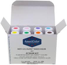 colour color amazon com food coloring americolor soft gel paste junior kit 8