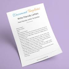 friendly letter sample high at document templates