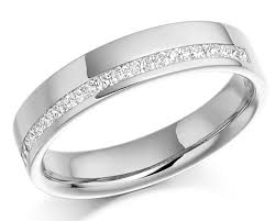 channel set wedding band offset channel set wedding band wr2070 bespoke rings