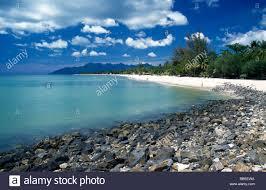 malaysia langkawi kedah pantai cenang beach with tourists walking
