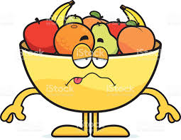 bowl of fruits sick cartoon bowl of fruit stock vector art 476941740 istock