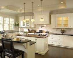 Classic White Kitchen Cabinets White Kitchens With Granite Countertops Pendant Lamp Glass Cherry