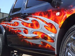 full fendered u002734 ford with amazing flames paint motorcycle