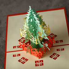 aliexpress com buy creative christmas tree 3d laser cut handmade