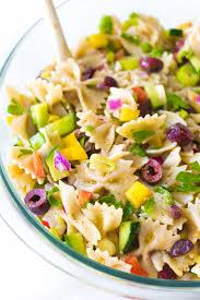 cold pasta dish vegan mediterranean pasta salad eating by elaine