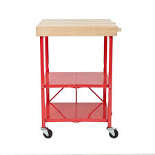 folding kitchen island origami 26 in w rubber wood folding kitchen island cart rbt 06