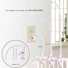 shiloh baby developmental crib toy with arm and musical mobile