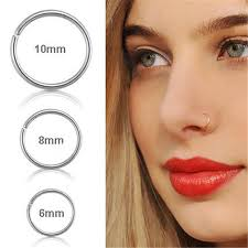 nose rings images images Stainless steel gold silver fake nose ring hoop nose stud rings jpg
