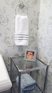 create an inviting bathroom with stencils hometalk