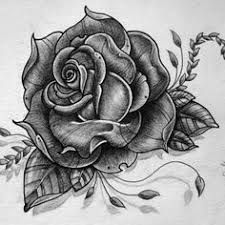 image result for rose tattoo black and white drawing ideas