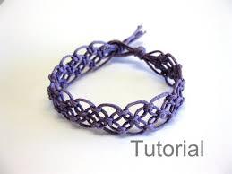 bracelet macrame patterns images Lacy macrame bracelet pattern tutorial pdf purple step by step etsy jpg