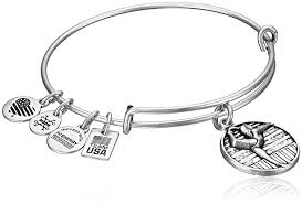 bracelet charm silver images Alex and ani team usa gymnastics expandable rafaelian jpg