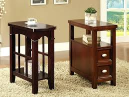 narrow table with drawers good looking small skinny end table modern narrow side delightful