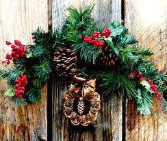 walnut shell wreath and the 2016 ornament exchange redo it