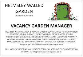 garden manager leaving helmsley walled garden the kirkbymoorside