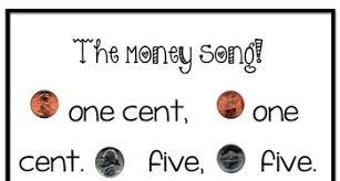 money bulletin board penny nickel dime quarter poem song