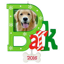 dog bark photo holder ornament keepsake ornaments hallmark