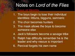 lord of the flies themes and messages lotf test review