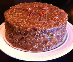 cooking the amazing german chocolate cake