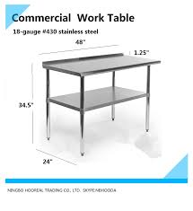 Commercial Prep Table Stainless Steel Work Table Stainless Steel Work Table Suppliers